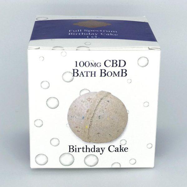 Full Spectrum 100mg CBD Bath Bomb Birthday Cake