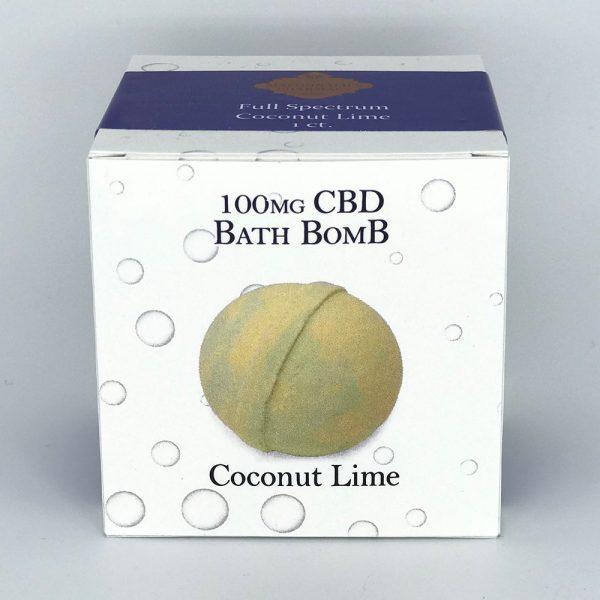 Full Spectrum 100mg CBD Bath Bomb Coconut Lime