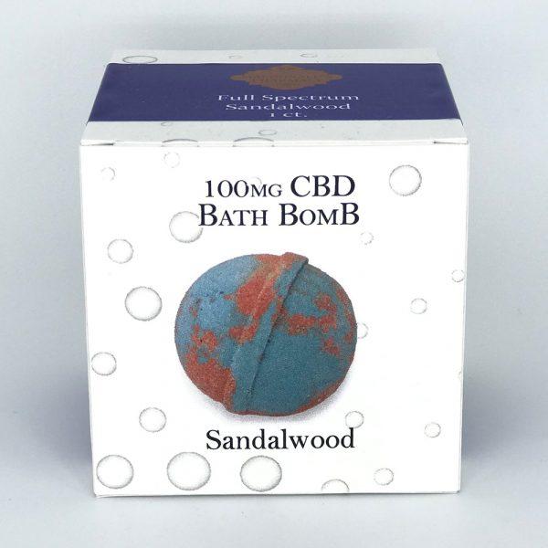 Full Spectrum 100mg CBD Bath Bomb Sandalwood