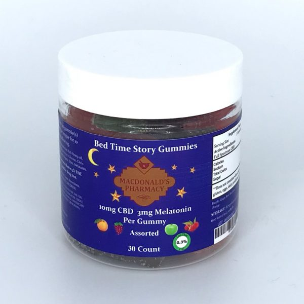 Bed Time Story Full Spectrum Gummies 10mg CBD & 3mg Melatonin 30ct