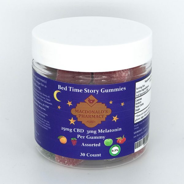 Bed Time Story Full Spectrum Gummies 25mg CBD & 3mg Melatonin 30ct