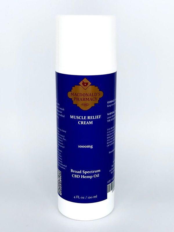 Broad Spectrum 1000mg Muscle Relief Cream 4FL oz.