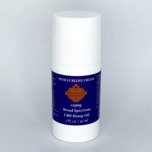 Broad Spectrum 125mg Muscle Relief Cream 1FL oz.