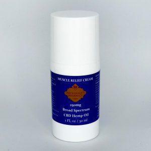 Broad Spectrum 250mg Muscle Relief Cream 1FL oz.
