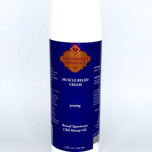Broad Spectrum 500mg Muscle Relief Cream 4FL oz.
