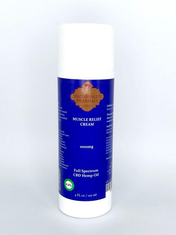 Full Spectrum 1000mg Muscle Relief Cream 4FL oz.