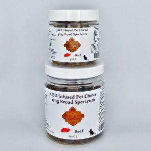 Broad Spectrum 5mg CBD Infused Pet Chews