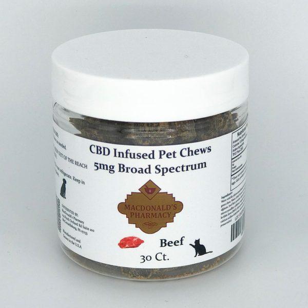 Broad Spectrum 5mg CBD Infused Pet Chews 30ct