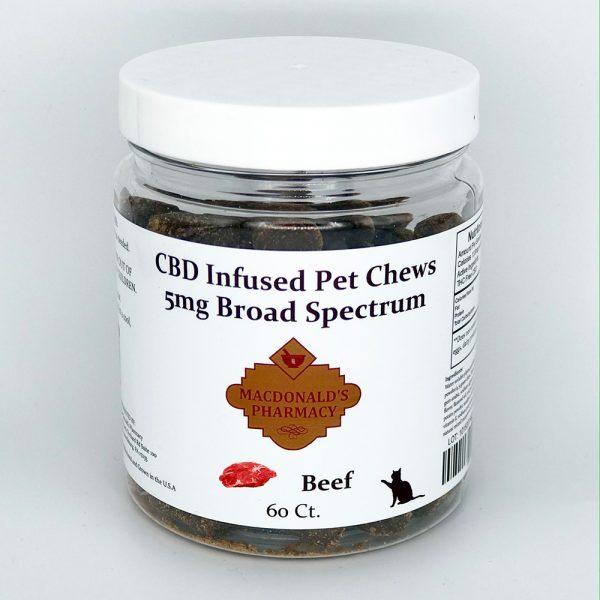 Broad Spectrum 5mg CBD Infused Pet Chews 60ct