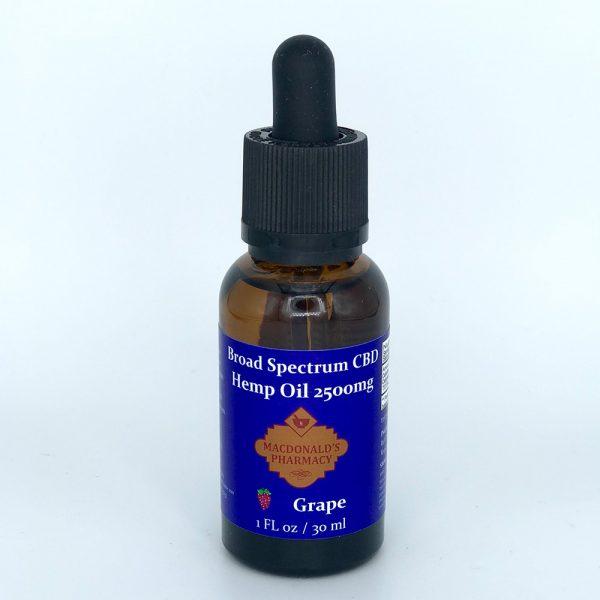 Broad Spectrum CBD Hemp Oil Grape 2500mg