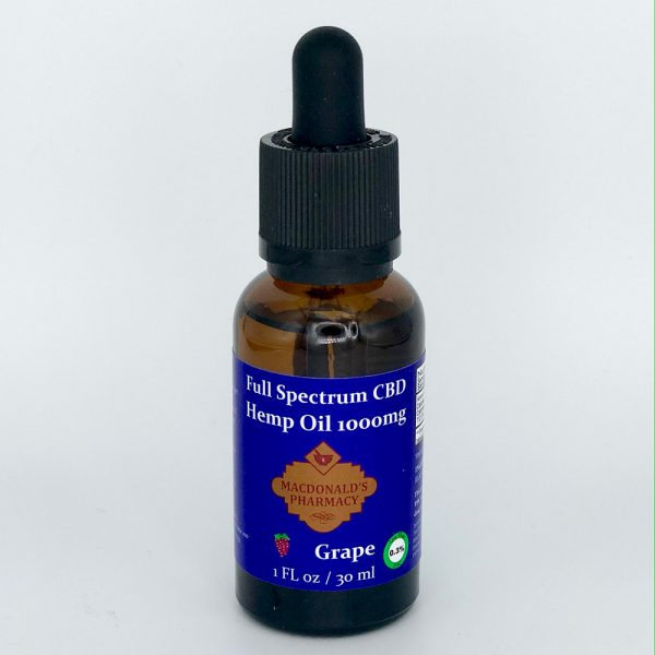 Full Spectrum CBD Hemp Oil Grape 1000mg