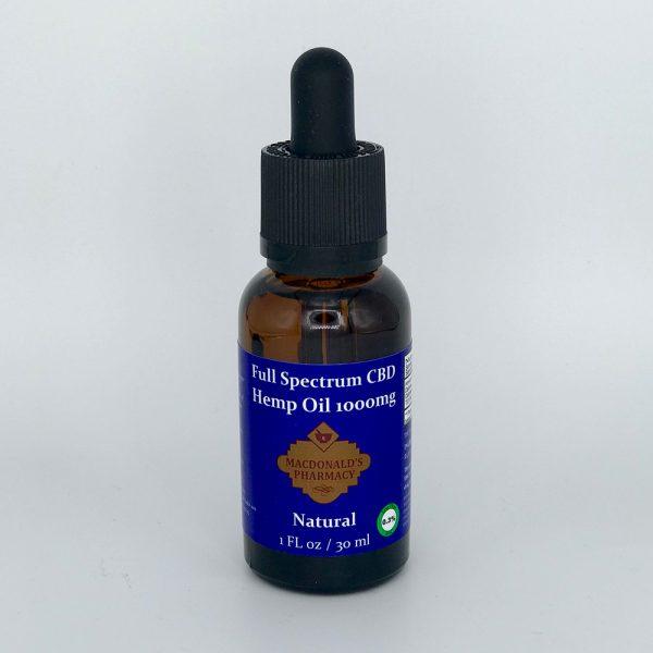 Full Spectrum CBD Hemp Oil Natural 1000mg