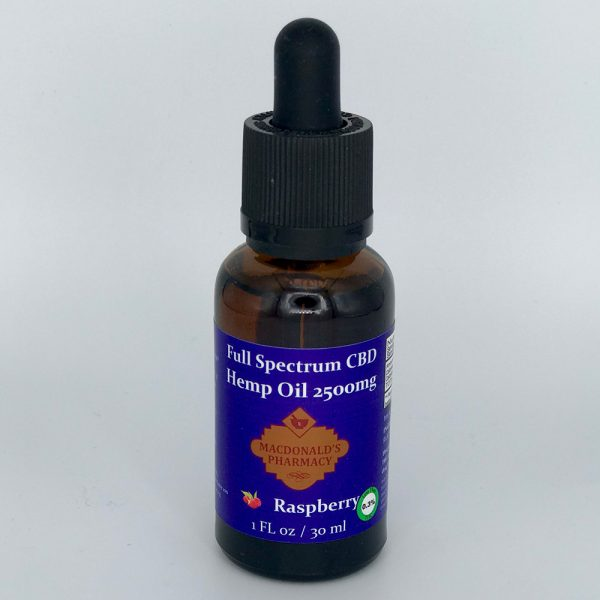 Full Spectrum CBD Hemp Oil Raspberry 2500mg