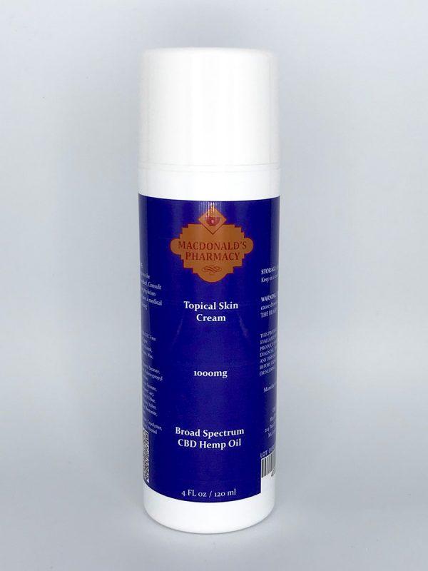 Broad Spectrum 1000mg Topical Skin Cream 4Fl oz.