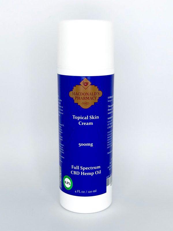 Full Spectrum 500mg Topical Skin Cream 4Fl oz.